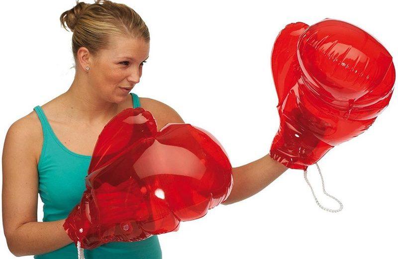 Gants de boxe géants gonflables