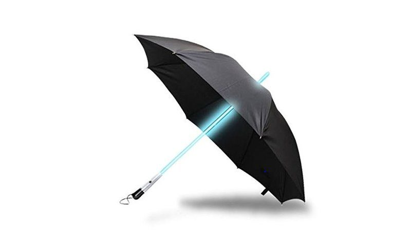 parapluie led lumineux sabre laser star wars objets insolites. Black Bedroom Furniture Sets. Home Design Ideas