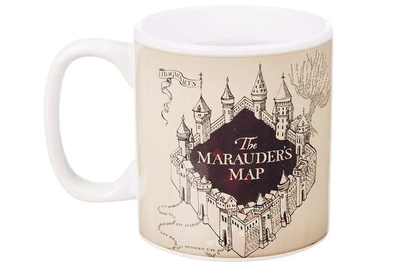 mug harry potter thermor actif carte du maraudeur pas cher objets insolites. Black Bedroom Furniture Sets. Home Design Ideas