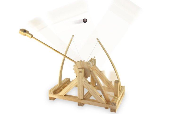 Catapulte de bureau à construire