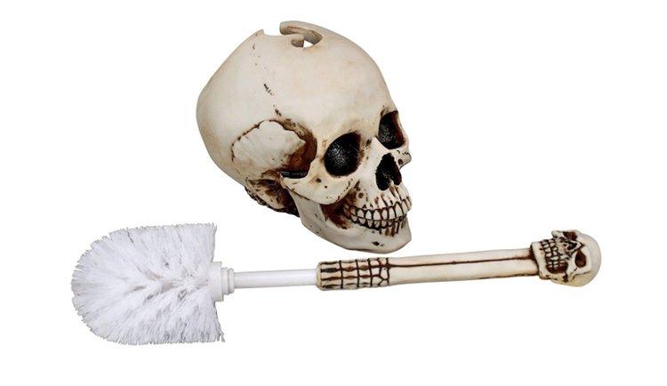 Brosse WC en forme de crâne