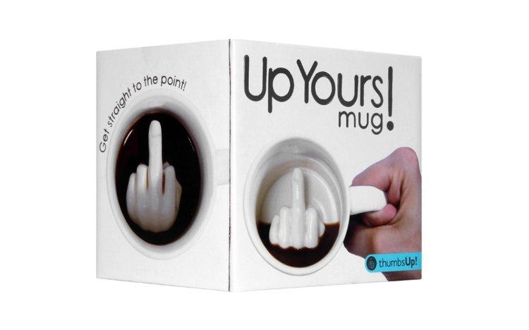 Mug gros fuck, tasse doigt d'honneur