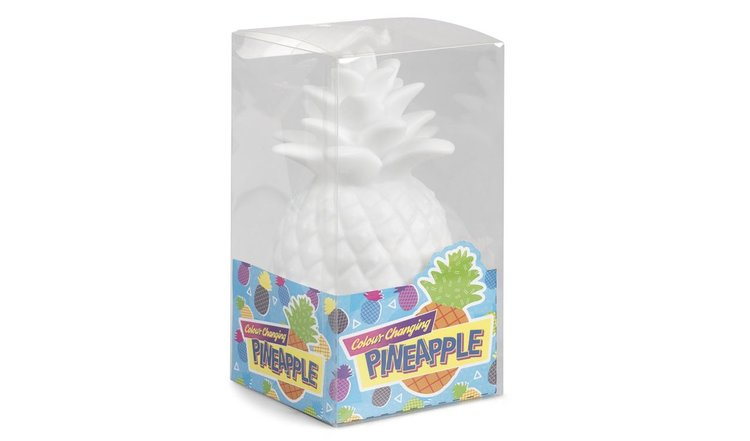 Lampe ananas blanche lumineuse & multicolore Goodnight Light, lampe à poser