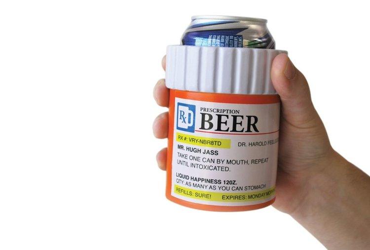 Porte bouteille réfrigérant, porte canette, porte boisson refroidisseur en forme de boite de médicaments