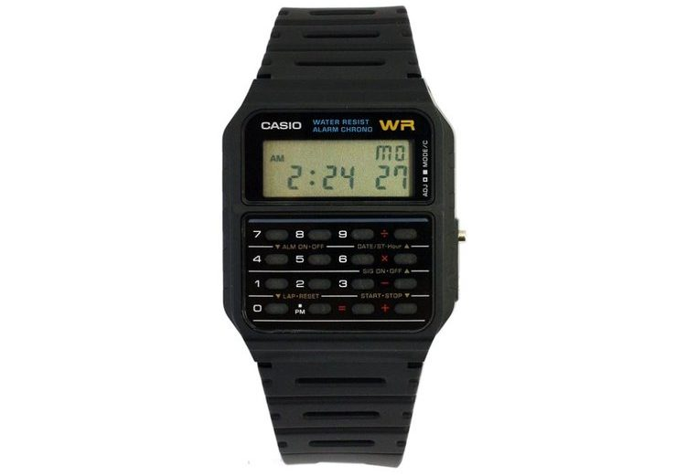 Montre calculatrice Casio Marty McFly dans Retour vers le Futur