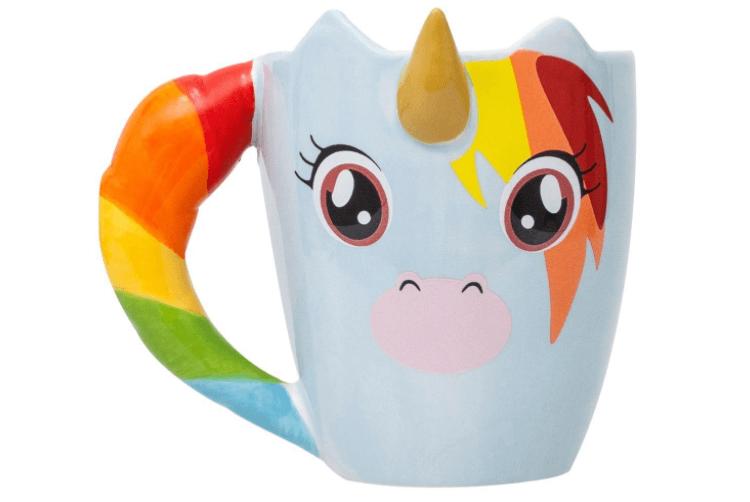 Tasse licorne multicolore
