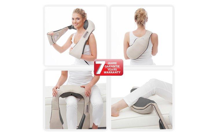 Appareil de massage chauffant shiatsu Donnerberg pour les cervicales, la nuque et le cou