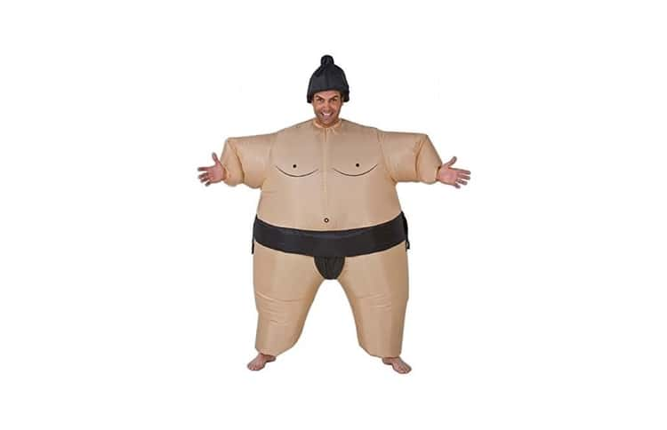 Déguisement costume sumo gonflable adulte