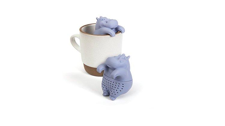 Infuseur à thé hippopotame en silicone