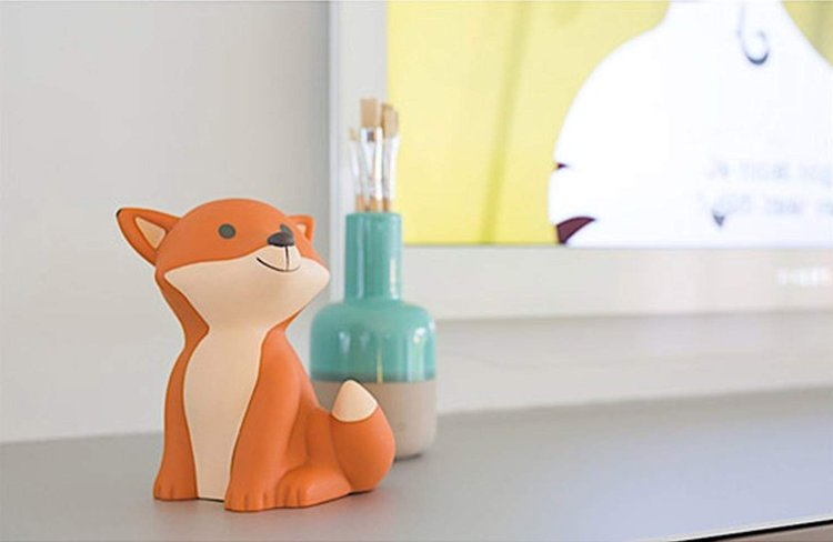 Veilleuse renard orange pour chambre d'enfant
