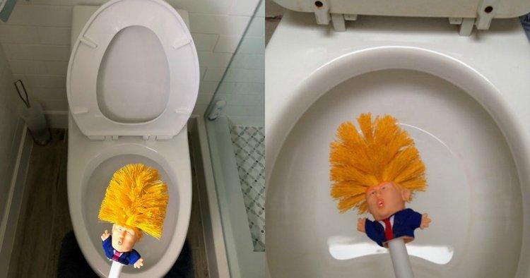 Brosse WC Donald Trump pour une cuvette de toilette propre