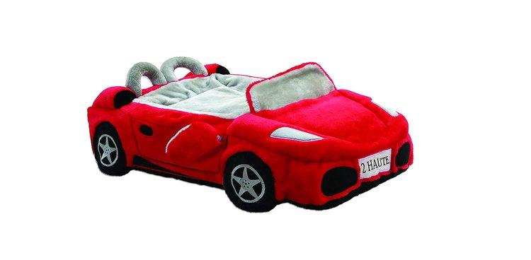 Lit voiture Ferrari pour chien : coussin de luxe pour canidé